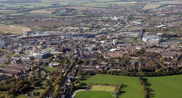 Aerial view of Doncaster