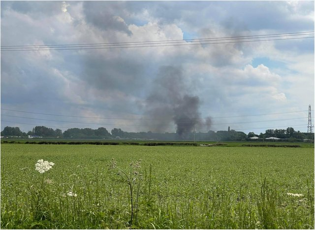 Fire crews were called in after the fire alongside the M18.