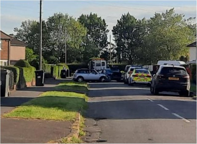 Police are at the scene in Clay Lane.