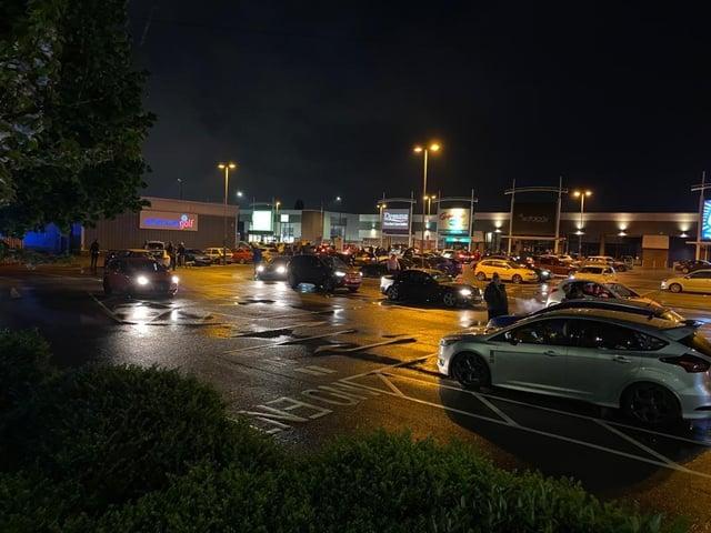 The cars at Danum Retail Park