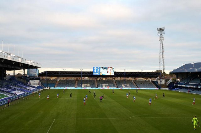Fratton Park, home of Portsmouth. Photo by Naomi Baker/Getty Images