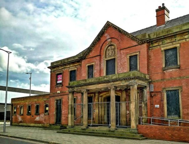 The frontage of the St James Baths