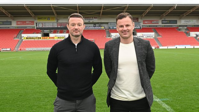New management team Richie Wellens and his assistant Noel Hunt