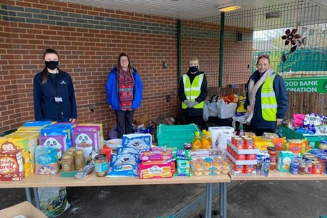 The food bank is supported by Morrisons.