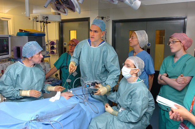 File picture. Mr Sean Marven and team start  keyhole surgery