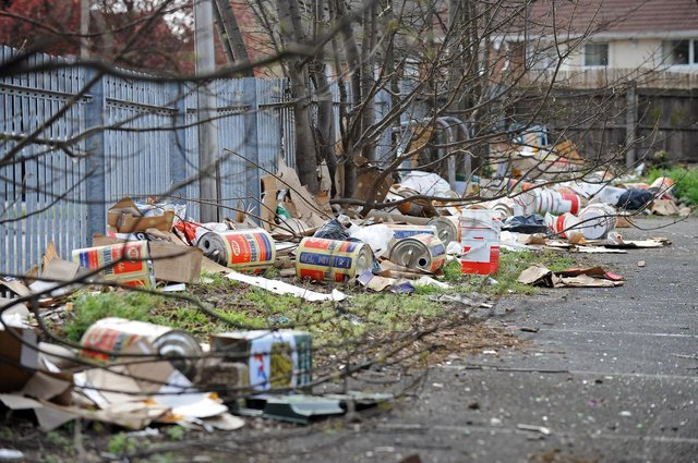 File picture shows the site of the former Benbow pub, which has now turned into a fly-tipping hot spot. Picture: NDFP-23-03-19-FlytippingBenbow-1