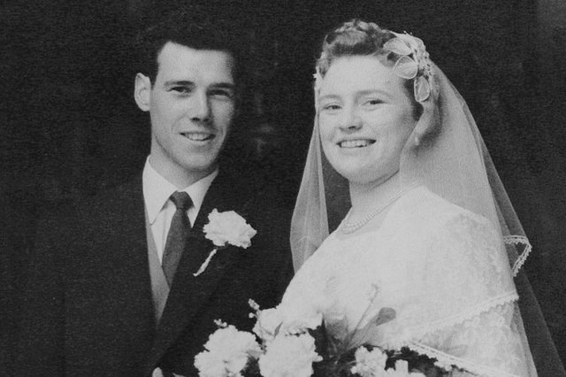 Donald and Maureen Fromont, pictured on their wedding day, sixty five years ago. Picture: NDFP-18-05-21-FromontAnniversary 4-NMSY