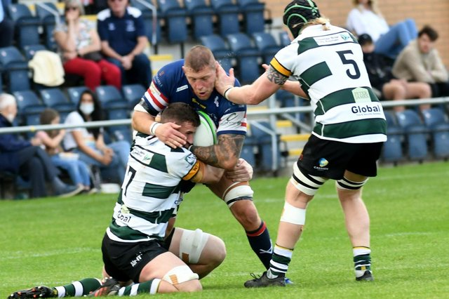 Matt Challinor against Nottingham in his final game for Doncaster Knights (Picture: Gary Longbottom)