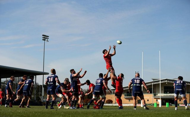 Doncaster Knights in action against Saracens. Photo: David Rogers/Getty Images