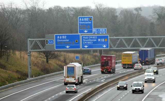 The incident caused large traffic jams on the M18.