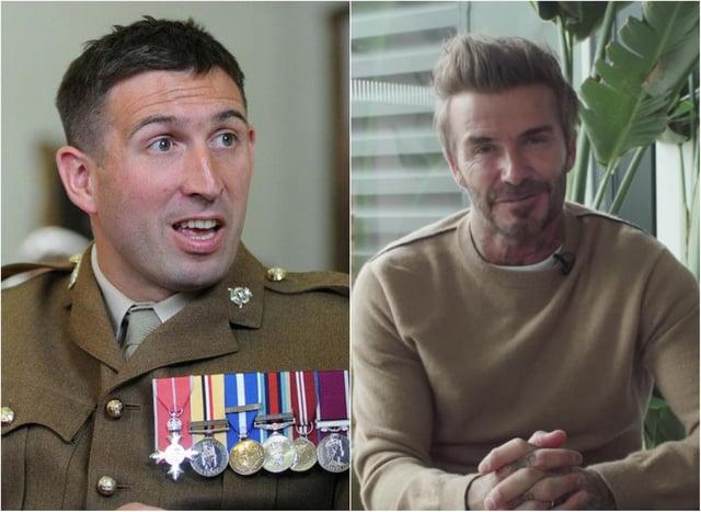 Ben Parkinson received a video message from David Beckham.