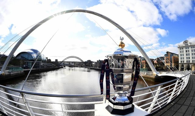 It is 100 days to the opening match of the tournament between hosts England and Samoa at St James' Park, Newcastle.
