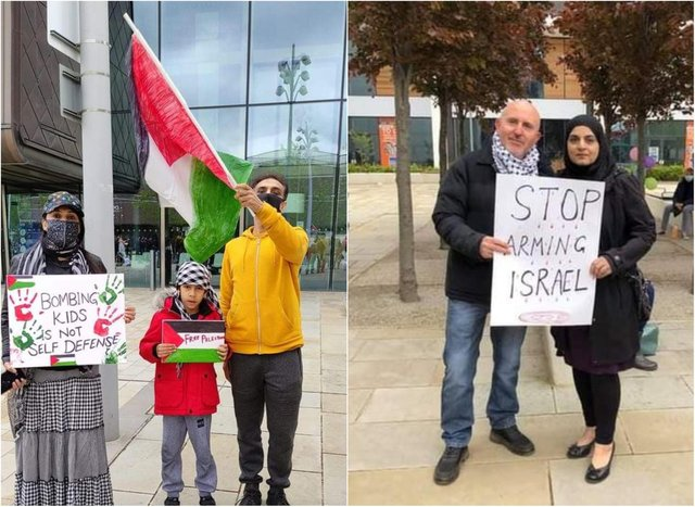 People came together in Doncaster in solidarity with Palestine.