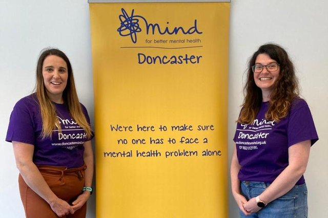 Laura Arthur, Finance and Office Manager and Jenni Hall Wellbeing Group co-ordinator at Mind