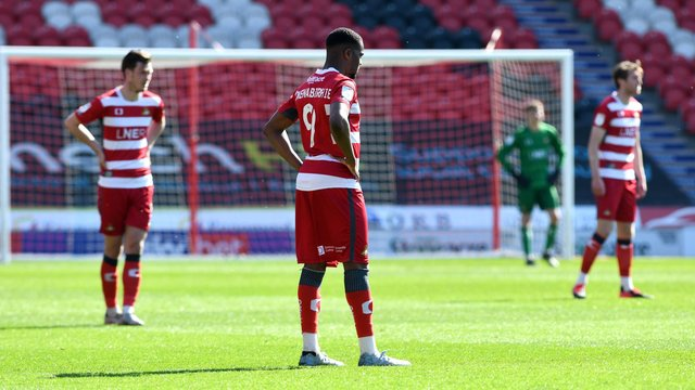 Rovers players show their disappointment after another defeat