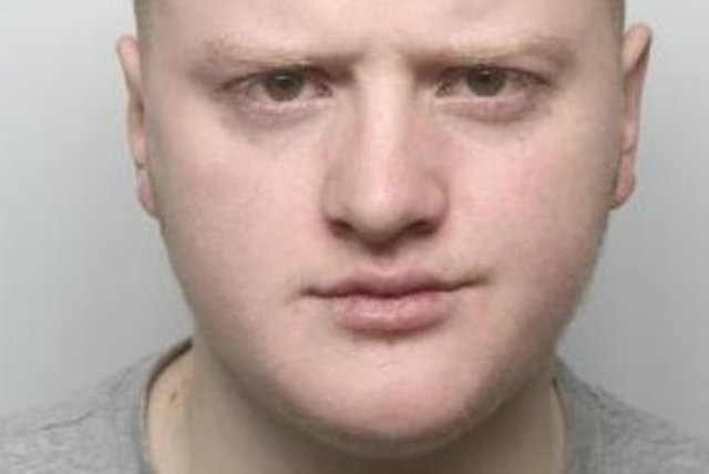 Pictured is Shae Nicholson, aged 20, of of Lincoln Close, Denaby Main, Doncaster, who has been found guilty at Sheffield Crown Court of murder after a vulnerable man was attacked in an alleyway.