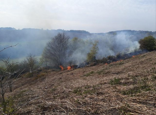 Fire at Maltby Crags