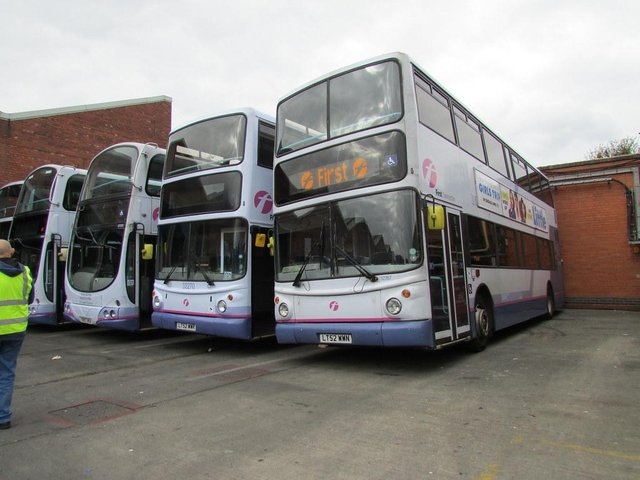 A bus diversion is in place