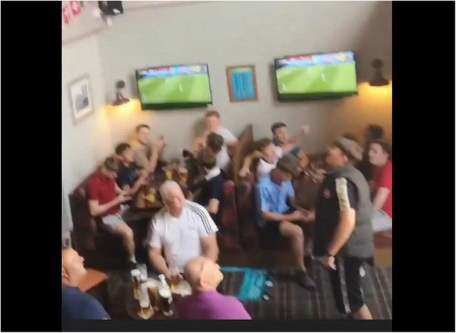 Police and council officials closed the pub after footage emerged of customers ignoring social distancing, not wearing masks and one member of staff offering a man a fight and calling him a 'f***ing moron.'