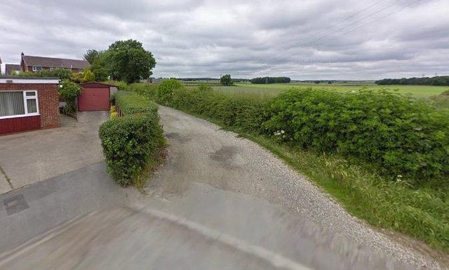 The entrance to the proposed pig farm