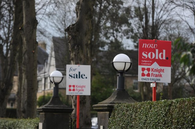 9th March 2021 Property for sale signs stock Picture Gerard Binks