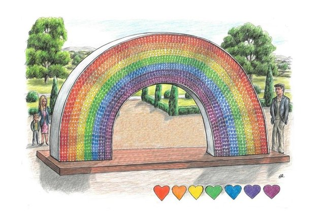 The rainbow will remember Doncaster's Covid victims.
