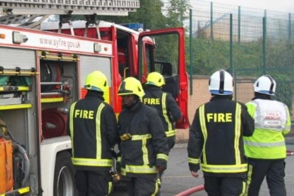 Firefighters were called to a Doncaster house fire