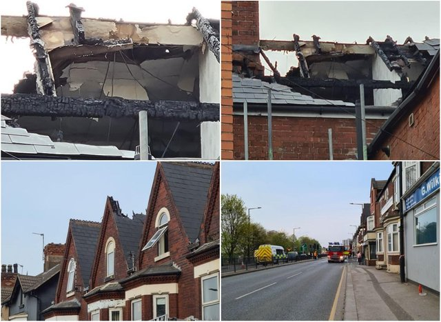 Photos show the extent of the damage.