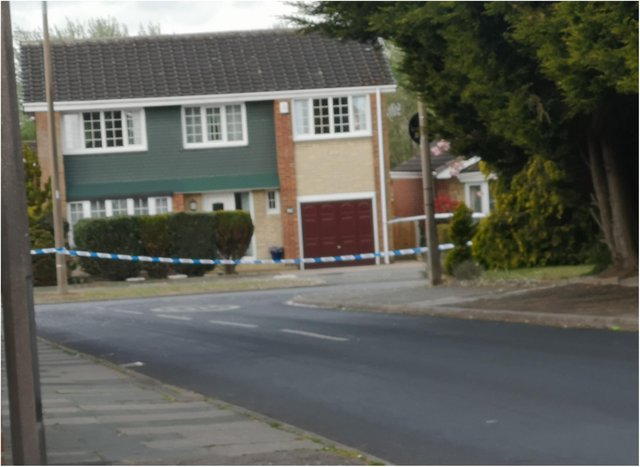 Stoops Lane in Bessacarr was sealed off by police.