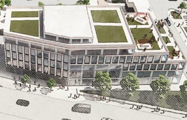 Plans for the multi-use building which will be built with Doncaster's Towns Fund investment
