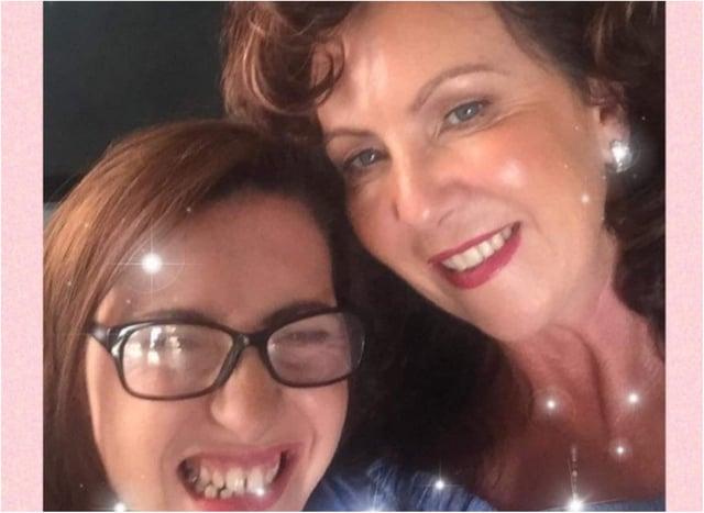Lorraine with her daughter Samantha.