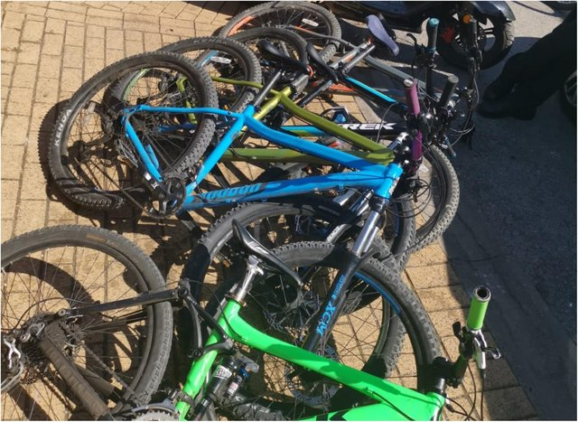 A huge haul of stolen bikes was recovered in Doncaster.