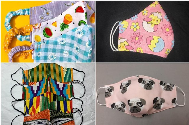 10 masks sold by Doncaster crafters.