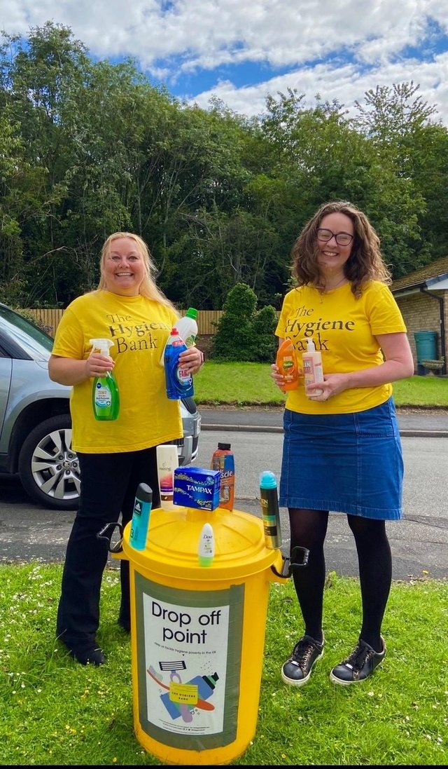 The Hygiene Bank received a £1,000 donation from Persimmon Homes