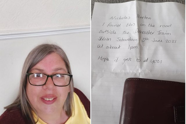 Sarah Stewart - the kind stranger who posted the wallet.