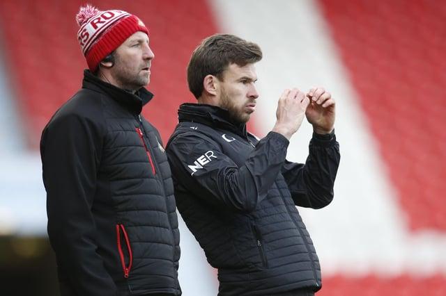 Andy Butler alongside Rovers goalkeeper coach Paul Gerrard. Picture: Ed Sykes/AHPIX