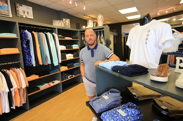 Shops in Doncaster Town Centre start to reopen. Phil Elvin from Punch Menswear which has reopened on Wood Steet. Picture: Chris Etchells