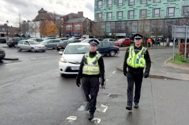 Police on patrol in Doncaster town centre this week