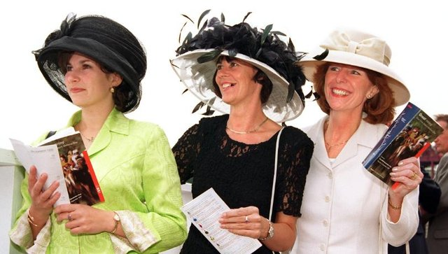 Joanne Allott, Elaine Fearnside and Sue Davies watching the races in 1997.