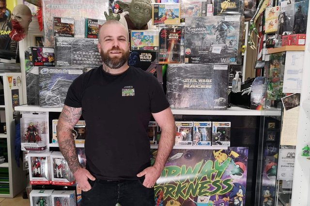 James Matthews owner of the toy shop.