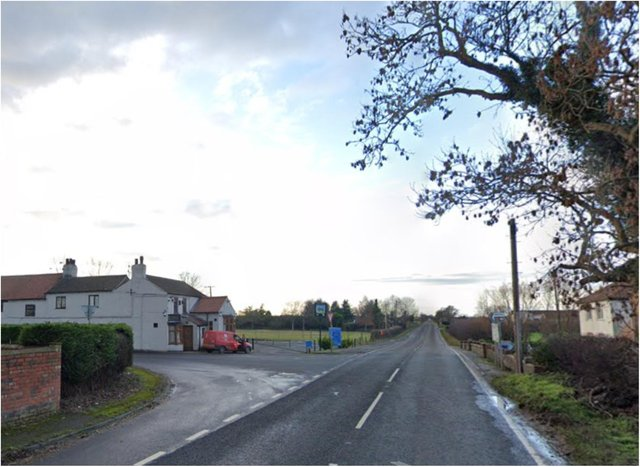 Four young people were injured after a car crashed into a tree on High Levels Bank near Thorne.