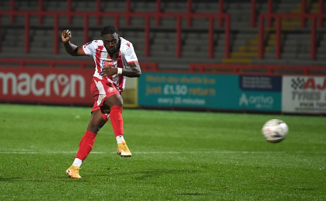 Aramide Oteh during his loan with Stevenage