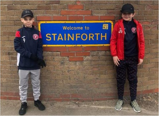 Logan and Jimi Lee took on a ten mile walk to raise £1,000.