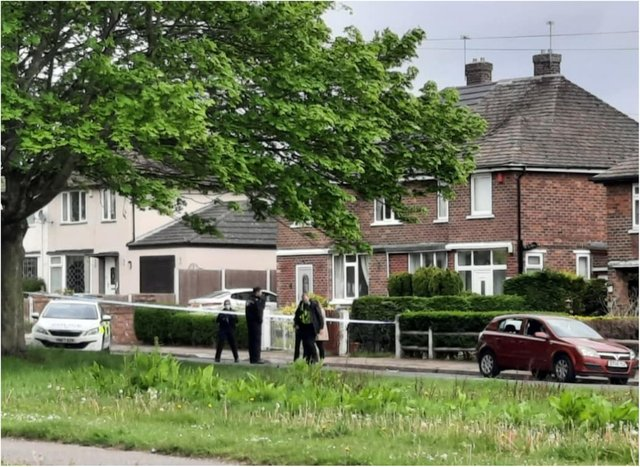 Police sealed off a house in Barnby Dun Road yesterday after shots were fired.