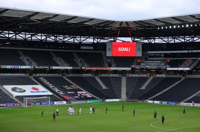 Doncaster's latest away defeat came at MK Dons. Photo: Richard Heathcote/Getty Images