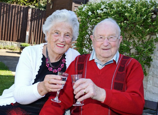 Ida Mary and Walter Turgoose, pictured celebrating their 70th wedding anniversary. Picture: NDFP-13-04-21-Turgoose 5-NMSY