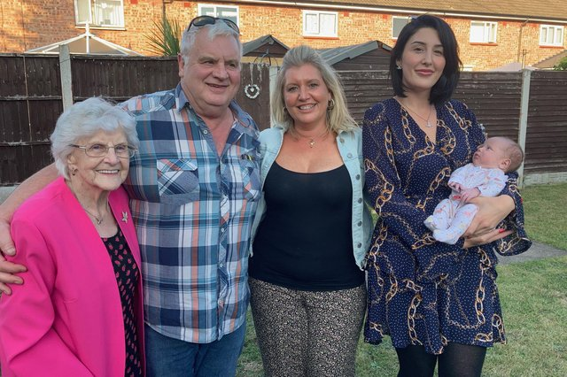The five generation Donnelly family