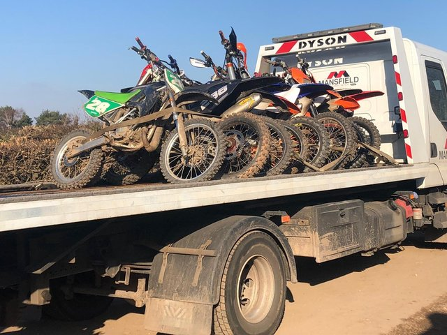 A record number of off-road bikes were seized in one day by South Yorkshire Police in an operation in Doncaster last weekend