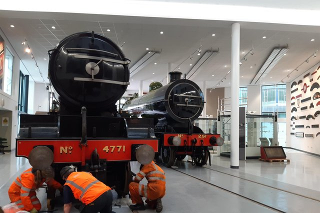 The rail heritage section of the new Doncaser museum