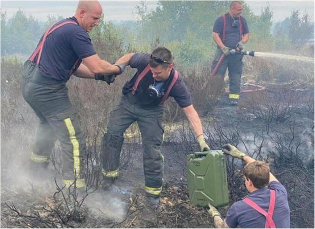 Fire crews spent weeks tackling a blaze on Hatfield Moors